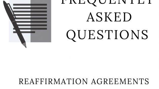 Faq Reaffirmation Agreements During A Bankruptcy